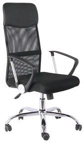 Cadeira Presidente Tela Mesh Preta - Bulk