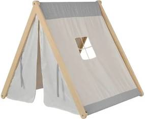 Cabana de 59cm a 121cm com tenda Cinza/Marfim/Natural - Casatema