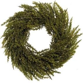 Guirlanda Natal Enfeite Porta Verde com Glitter 35cm 1 Peça