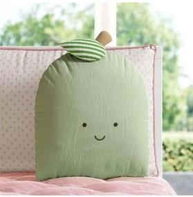 Almofada Verde Amiguinha Maçã Decorativa 32cm Grão