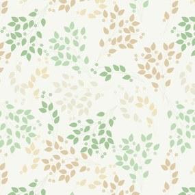 Papel de Parede Floral Marrom 2,70x0,57m