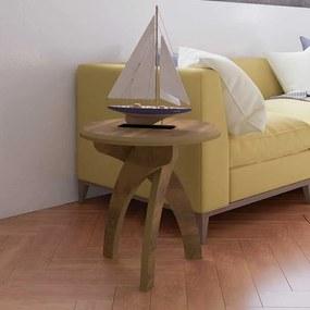 Mesa de Canto Jade 100% MDF Retrô 50cm Pinho - Artely Móveis
