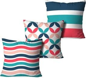 Kit 3 Capas Love Decor para Almofadas Decorativas Premium Pattner Multicolorido Branco