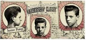Placa Decorativa Para Barbearias Hair Style Signature Haircuts: Junior Pomp