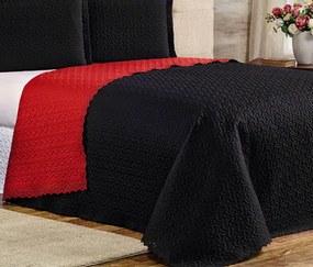 Cobre Leito Solteiro Dupla Face Elegance 01 Peça - Preto e Vermelho