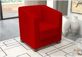 Poltrona Decorativa Valéria com Pés em PVC Suede Amassado Vermelho - JS Móveis