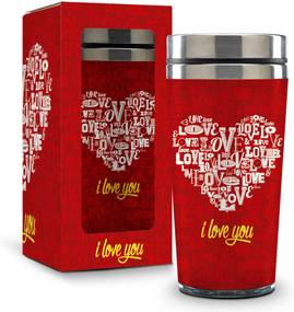 Copo inox tÉrmico - amor - i love you