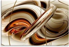 Tela Wevans Decorativa em Canvas 90x60  Abstrato 01 Marrom