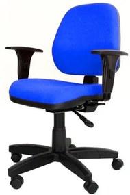 Cadeira Corporate Executiva cor Azul com Base Nylon - 43975 Sun House