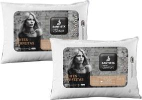 Kit Travesseiros Suporte Extra Firme Super Comfort 2 Peças