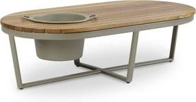 Mesa de Centro Club com Champanheira Área Externa Tampo Deck Cumaru Eco Friendly Design Scaburi