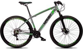 Bicicleta Volcon Aro 29 Quadro 15 Alumínio 21v Câmbio Tras. Shimano Freio Mecânico Cinza - GT Sprint