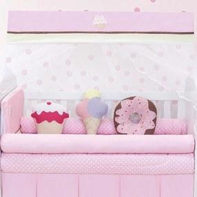 Kit Berço Padroeira Baby Cupcake Rosa