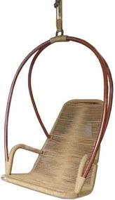 Poltrona de Balanco Paris Estrutura Aluminio Revestida em Corda cor Cobre Ouro - 51893 Sun House