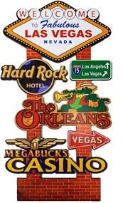 Placa Decorativa Gigante Mdf Midpoint Las Vegas