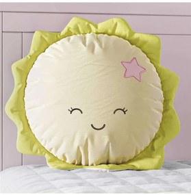 Almofada Amiguinho Sol Amarelo e Rosa 30cm Grão de