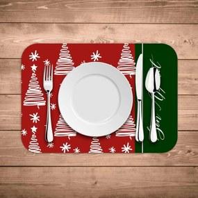 Jogo Americano de Natal Bon Appetit Kit com 2 pçs