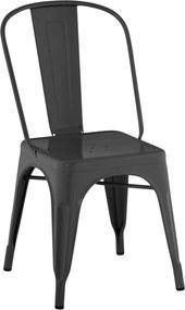 Cadeira Iron Sem Braços Preta Rivatti