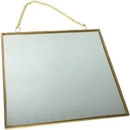 Espelho Square Wall Art Dourado