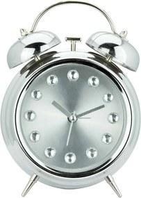 Relógio Despertador Diamont Prateado Grande em Metal - Urban