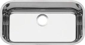 Cuba n.2 Tramontina 56 x 34 x 14 cm Lavínia 56 BL Perfecta em Aço Inox 304 Polido Sem Válvula