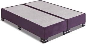 Box King Size 193X203X25 Suede Beringela Kappesberg Marrom