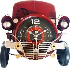 Relógio Calhambeque Frente Vermelho