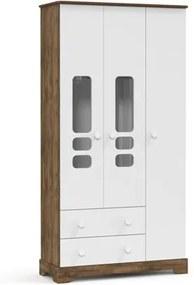 Guarda Roupa Infantil Smart 3 Portas Branco Soft/Teka - Matic