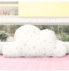 Almofada Rosa Nuvem Estrelinhas 50cm Grão de Gente