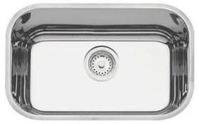 Cuba de Embutir Tramontina Lavínia Perfecta 47 BL em Aço Inox Polido 47 x 30 cm com Válvula