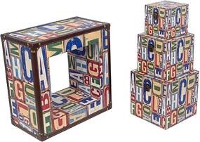 Nicho Quadrado com 3 Baús ABC Design