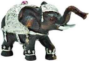 escultura elefante GANESH resina preto 11,5 cm Ilunato NA0120