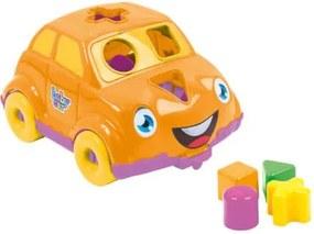 Carrinho Didático Laranja Bs Toys