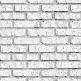 Papel de Parede Tijolinho Branco 3D 2,70 x 0,57m