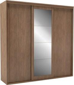 Guarda-Roupa de Casal Inovatto 3 Portas Com Espelho 227 cm Ébano - Belmax