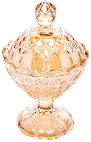 Potiche Cristal Com Pé Angel Âmbar 11x16cm 27881 Wolff