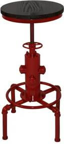 Mesa Bistro Industrial Vermelha 76 a 91 cm (ALT) - 37943 Sun House