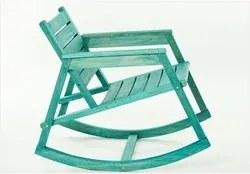 Cadeira de Balanço Janis Stain Azul - Mão & Formão
