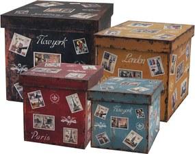 Conjuntos De Baús Em Madeira Com 4 Peças