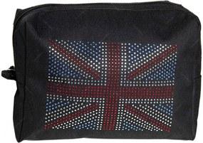 Necessaire Uk Flag Preta em Algodão - Urban - 20x14 cm