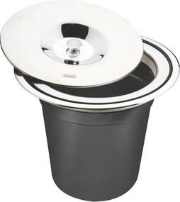 Lixeira de Embutir 5 litros Preto - Tramontina