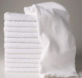 Toalha de Rosto Para Salão de Beleza Econômica - 45x70cm - Branco