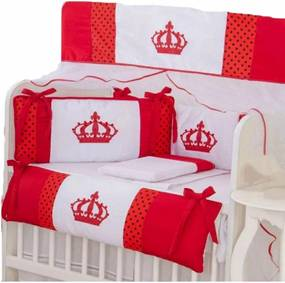 Kit para Mini Berço I9 Baby 9 peças Princesa Vermelho