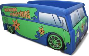 Cama Infantil Kombi Mistério Cama Carro Do Brasil Azul