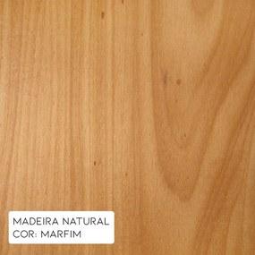 Mesa de Centro Square 110cm Aço Preto/Marfim - Gran Belo