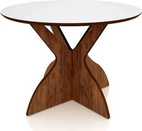 Mesa para Sala de Jantar TM12 120cm Nobre/Off White - Dalla Costa
