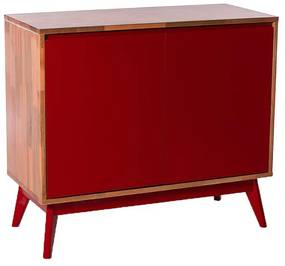 Buffet Roma 2 Portas Vermelho - Wood Prime MP 1041598