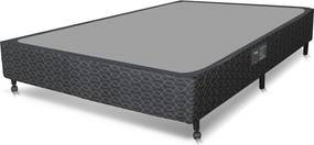 Box Casal 138X188X27 Class Bonnel/Slim Preto Castor