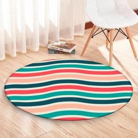 Tapete Redondo Wevans Listras Full Color 84cm