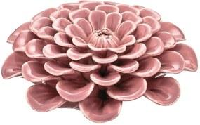 Flor em Cerâmica Rosa Mart